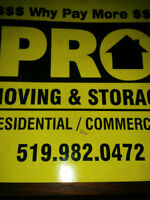 ****PRO-MOVERS MOVING & STORAGE 519-982-0472