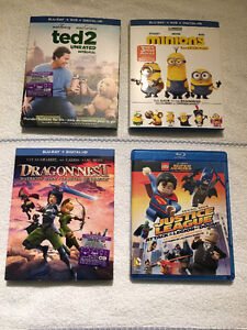 [BLU-RAY] MINIONS, TED2, LEGO SUPER HEROES, DRAGONNEST