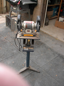 Bench Grinder with Stand