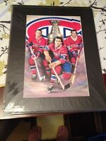 Montreal Canadiens matted 16 x 24 pictures