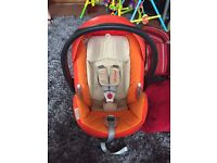 Cybex Aton q car seat and isofix base - birth - 18 months