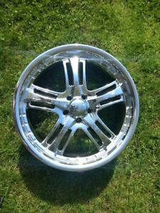 4 roues Mags 17x 7.5 Bolt pattern 5 x 100 Offset + 40mm Neufs