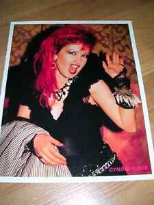 "1980's 8x10 picture #2 of ""Cyndi Lauper"" sold in record stores."
