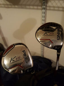 Ping full set (G20 irons, G2 driver, wood) with bag, putter Windsor Region Ontario image 3