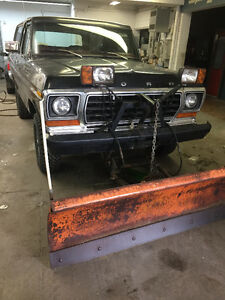 1978 Ford Bronco CUSTOM WITH WORKING PLOW