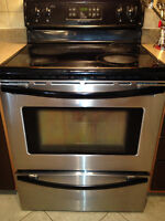 Frigidaire Stainless Stove Range, Glass Ceramic Top, 30""