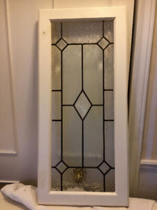 """Beautiful Antique Stained Glass Windows, 33"""" x 13.5""""...$125"""