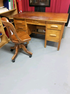 Antique desk and chair for sale