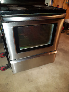 Stainless and Black stove