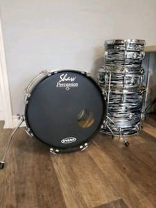 2 rebuilt/modified drum kits