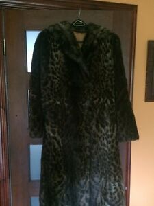 Vintage Imitation. Jaguar fur coat
