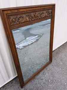 Brown Wood vintage mirror