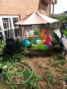 Covered out door doggie cage