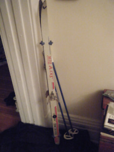 cross country skis  and poles (kids)