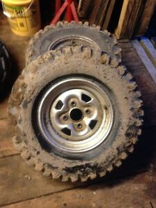 Four atv tires and rims