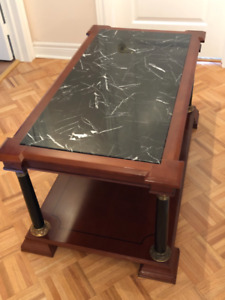 Marble Coffee Table and Plant Stand Set $150