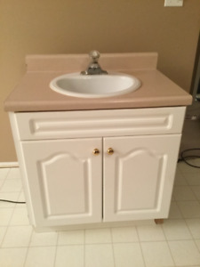 Bathroom cabinet and sink plus faucet for sale