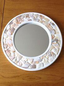 White shell mirror