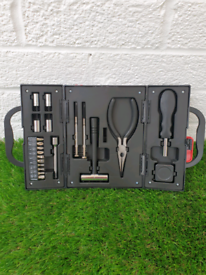 Brand New 21 Piece Tool Kit With Built-in Torch & Accessory Tray.