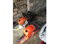 Chainsaws and petrol blower/vac