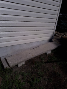 fireplace mantle and step