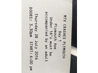 MTV crashes Plymouth day 1 tickets