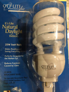 25W OTT-lite replacement bulb for series 25 lamps