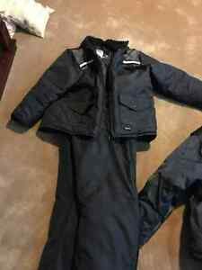 MEN'S BLACK BIB PANTS AND JACKET XL BLACK SNOW SUIT