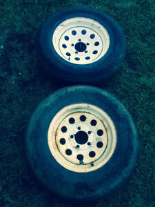 """2 Trailer rims for sale 14"""" used condition $20 for both"""