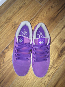 Supra Bullet Purple/Grey Suede Lizard King Shoes