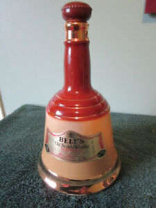 VINTAGE BELL'S OLD SCOTCH WHISKY BOTTLE BELL SHAPED