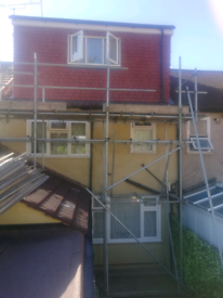 Scaffolding and boards