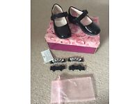 Lelli kelly black patent shoes size 24F worn once