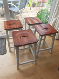 4 matching stools