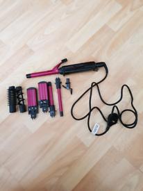 Babyliss hair straightener, crimper and curler.