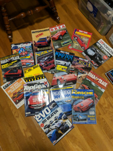 Car magazines and books 1960 and on and lots of them.