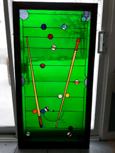 Pool table - stained glass