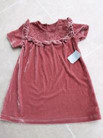 Brand new velvet dress 12-18 months