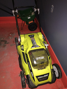 Electric Mower, Blower and Whacker (lightly used). All shown acc