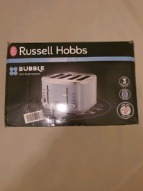 Brand new russell hobbs bubble blue 4 slice toaster