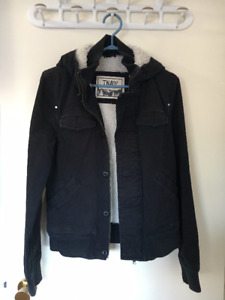 TNA Fall Jacket with Fur - XS Navy Blue