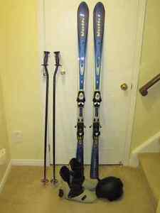 DOWNHILL SKIS AND POLES - MENS