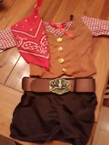 Cowgirl costume - size 4T
