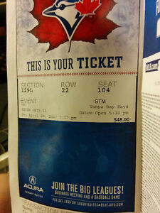 4 blue jays tickets for sale April 28th game