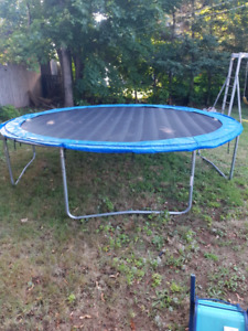 12' Trampoline / Power Jeep for sale
