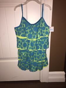 Justice fancy tank top size 14 new with tags