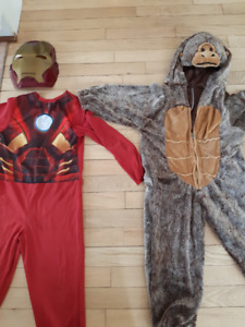 Costume Iron man + costume de singe 4 ans