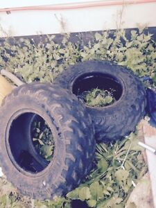 2 atv tires $20 for the pair