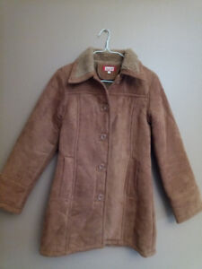 Brown Suede Coat for Women