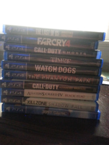 Selling 10 PS4 Games 220 Dollars